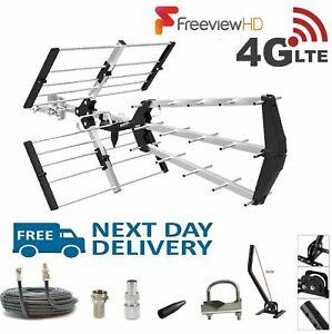 TV-Aerial-4G-Triple-Boom-48-Element-Freeview-Digital-HD-Indoor-Outdoor-full-Kit