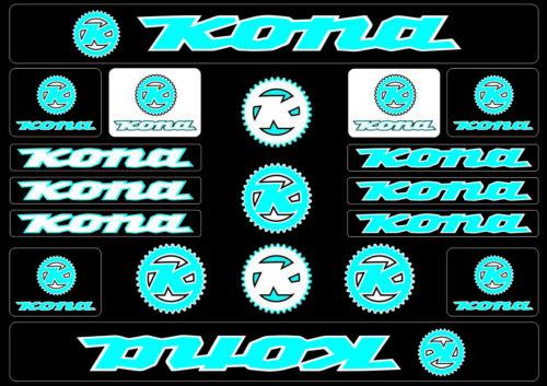 KONA Bicycle Bike Frame Decals Sticker Adhesive Graphic Vinyl Aufkleber Blue