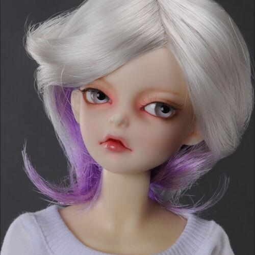 MSD Wig 7-8 inch 18-20cm 1//4 BJD janus Cut DM Violet 7-8