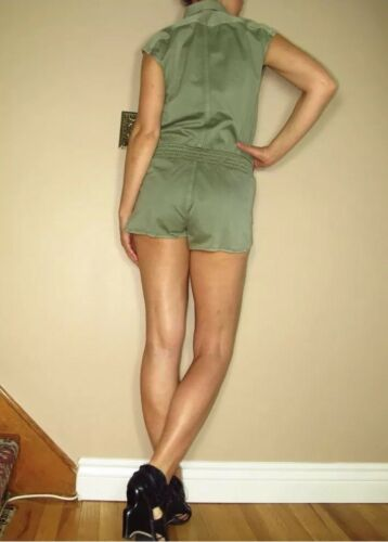 Green Cotton 7 New Short S Shirtall Mankind 165 Army Romper For Xs Women's All SwnqFvP5w
