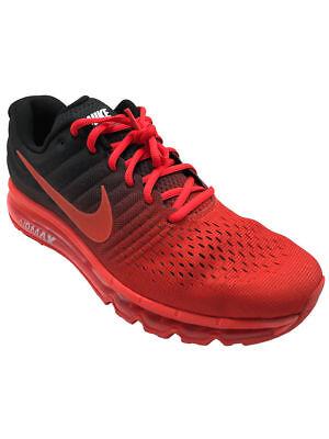 new style c93b1 11f6c Nike Air Max 2017 Mens Black Red Crimson Running Training Shoes 849559-600  NIB | eBay