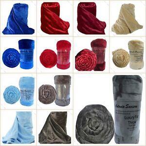 Home & Garden Home Décor Dedicated Mink Faux Fur Throw Blue Colour Extra Large King Size 200cm X 240cm