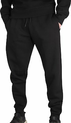 More Mile Vibe Fleece Mens Joggers Black Sweatpants Gym Training Trousers Starke Verpackung