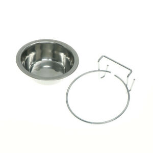 Stainless-Steel-Hanging-Bowl-Feeding-Bowl-For-Pet-Bird-Dog-Food-Water-Cage-BowlH