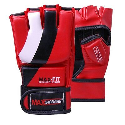 Rex Leather Karate Boxing Grappling Gloves MMA Punch Bag Fight Training Mitts