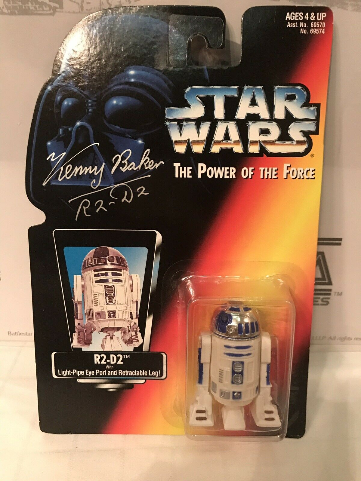 Star Wars The Power Of The Force R2-D2 Autographed