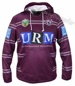 10cc3b78159 Manly Sea Eagles NRL Jersey Hoodie Adults and Kids Sizes BNWT Hoody ...