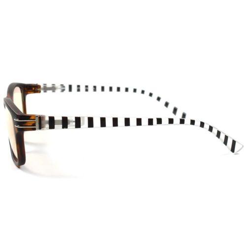 Matte Tort Stylish Mens Womens Fashion Yellow Tint Computer Reading Glasses B61