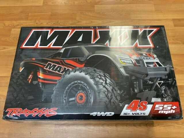 Traxxas Maxx RTR 4WD Brushless Monster Truck 1/10 Electric Red 89076-4 New!!