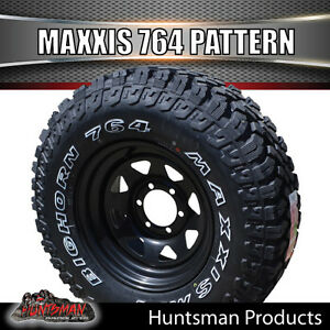 15x8-BLACK-WHEEL-FITTED-TO-MAXXIS-BIGHORN-764-32-11-5-15L-T-MUD-TYRE-32X11-5R15