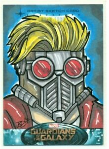 2014-GUARDIANS-OF-THE-GALAXY-BRIAN-DEGUIRE-STAR-LORD-ARTIST-SKETCH-CARD-1-1