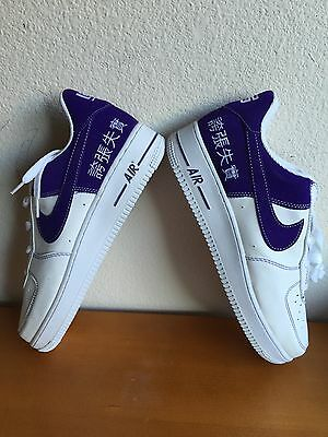 RARE AIR FORCE ONES. Purple and white. Men's 11   eBay