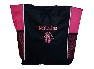 TOTE BAG Personalized Zippered Dance Ballerina DANCERS Team Ballet Jazz