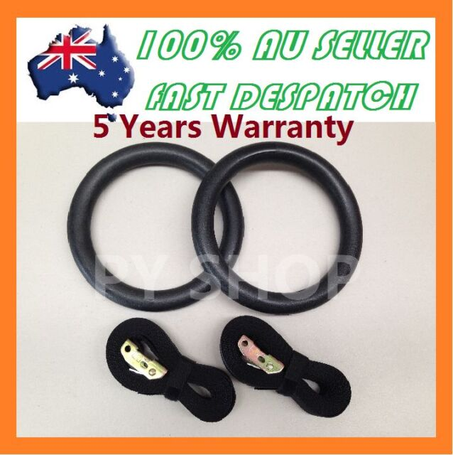 NEW Gymnastic Gym Rings Hoop Crossfit Exercise Fitness Home Workout Dip in Pair