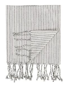 Medium-Hammam-Towel-With-Fringes-White-With-Anthracite-Pattern-by-Ib-Laursen