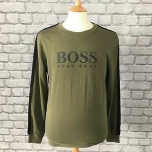 d0debc3db BOSS HUGO BOSS MENS UK S KHAKI GREEN AUTHENTIC CREW SWEATSHIRT ...