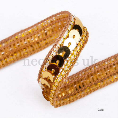 Ligne Simple Embellissement Neotrims Sequin ruban Parage ruban bordure 10 mm