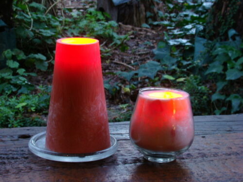 40hr SANDALWOOD /& ROSES Triple Scented Natural Pillar Candle HOME FRAGRANCE GIFT