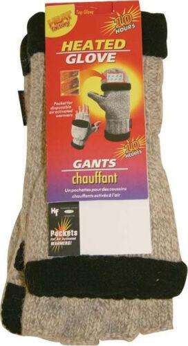 Heat Factory Thinsulate Heated Wool Pop Top Glove Fleece Lined Mens Large 994