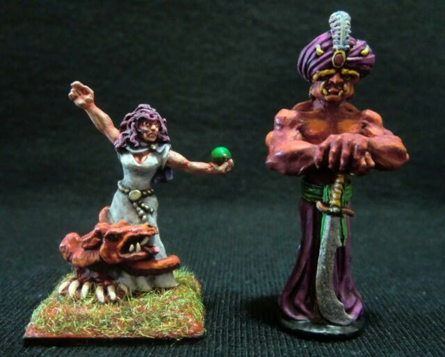 D&D Miniatures Lot -  Mage Summoner & Djinn - Professionally Painted !!