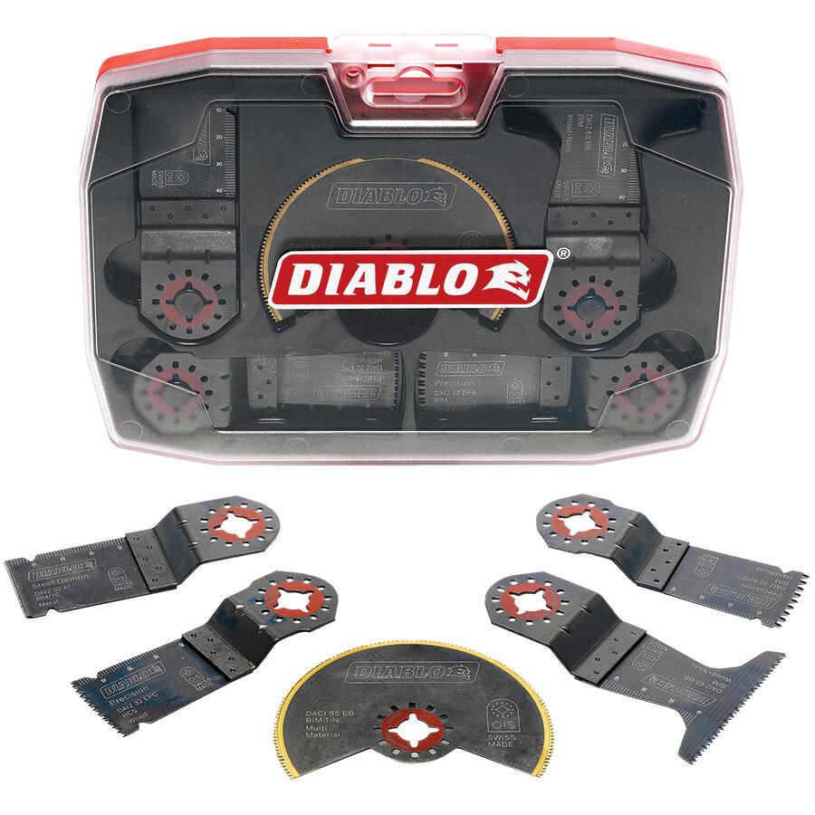 Diablo DEMOLITION Oscillating MULTITOOL BLADE SET 2608F01089 5Pcs, Storage Case