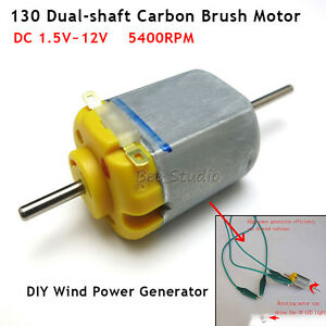 Details About Mini Dual Shaft Carbon Brush Dc 1 5v 12v 3v Motor Diy Model Wind Generator