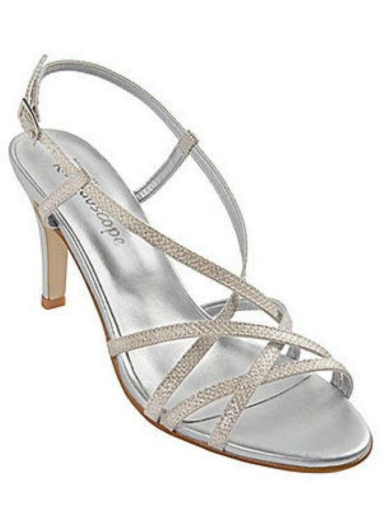 Kaleidoscope Italian Glitter Strappy Sandals UK 5 EU 38 JS078 AA 03