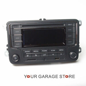 oem autoradio rcn210 usb aux bluetooth sd for vw polo golf. Black Bedroom Furniture Sets. Home Design Ideas