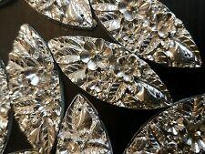 Con trama Sparkle argento Sew sul gioiello 50mm Gemma Cristallo Strass Perline Trim