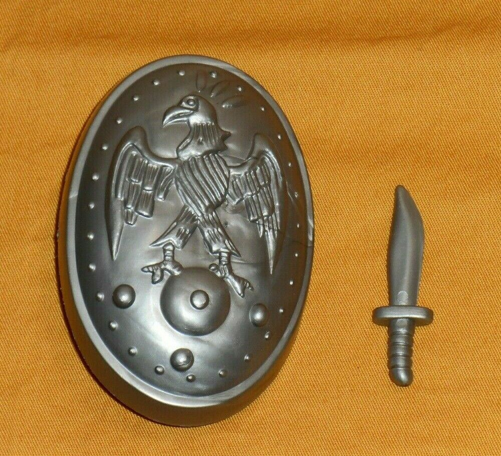 Vintage REMCO CONAN SHIELD + KNIFE dagger lot parts weapons