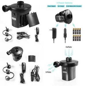 Electric Air Pump with 3 Nozzles Quick Fill Inflator for Inflatables EU//US//UK