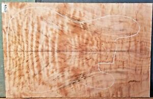 Figured Flame Spalted Maple Wood 11426 Luthier Guitar Top 23+ x15 x .500