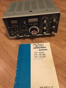 Yaesu Ft 101 E Ham Radio Ssb Transceiver With Manual Ebay