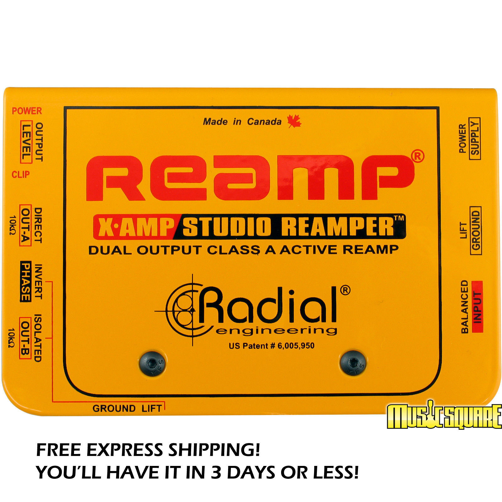 Radial X-Amp Active Guitar Reamplifier XAMP Reamper X Amp MAKE OFFER  BRAND NEW