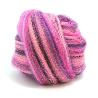 wool fibre dyed wool tops needle felting SALMON PINK MERINO ROVING 50g