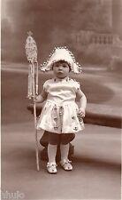 BJ264 Carte Photo vintage card RPPC Enfant jeune fille costume folklore fée