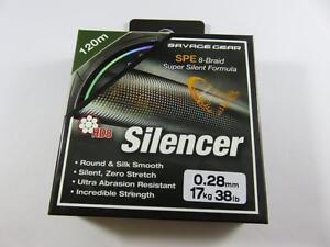 SAVAGE GEAR HD8 SILENCER BRAID PIKE PREDATOR FISHING LINE 6.3-32kg 300m