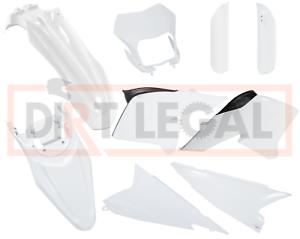 White OEM Plastic Fairing Fender Kit for Yamaha WR250R//WR250X 2008-2019