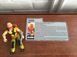 GI-Joe-Taurus-1987-Complete-with-Filecard-Sgt-Slaughter-s-Renegades-Hasbro