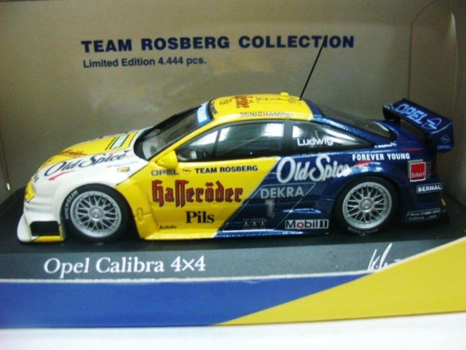 Wow extrêmement Rare OPEL Calibra V6 1995   Ludwig DTM präsen 1 43 Minichamps CTI