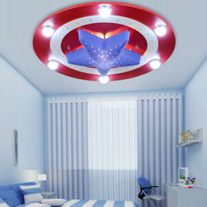 Image Is Loading America Captain Shield Ceiling Lights Pendant Lamp Kids