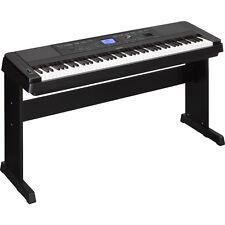 Yamaha DGX-660 88-Key Weighted USB Grand Digital Piano Keyboard Black + Stand
