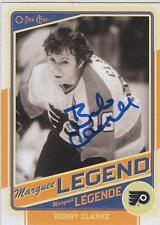 BOBBY CLARKE Autographed Signed 2012-13 OPC Legend card Philadelphia Flyers COA