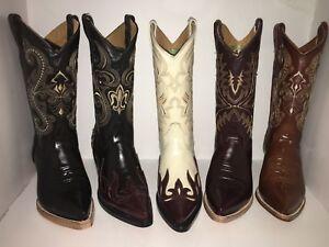 Rodeo Vaqueras Men's Leather Boots Botas Print Cowboy Chameleon Western Camaleon Yq47aYw
