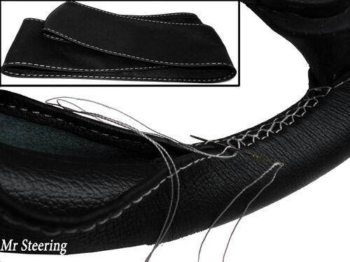 Pour DATSUN Fairlady 1600 mieux 100/% Cuir véritable Couverture volant blanc stitch