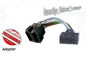 Auto-radio Câble adaptateur pour kenwood Connecteur DIN ISO le KDC lavé CRC-w DPX DPX-MP!!!