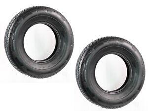 2-Pack eCustomrim Rainier Radial Trailer Tire ST185/80R13 LRD 1710 Lb. 65 PSI