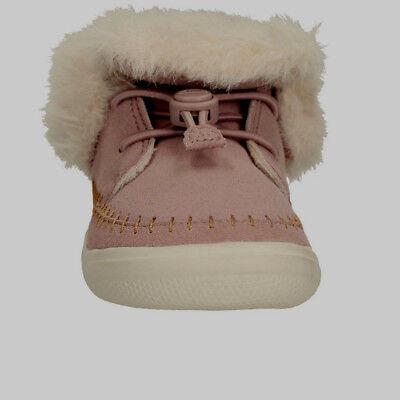 Clarks Doodles Niños Infantil Niñas Niños Zapatillas Botas Zapatos de piel de casa Rosa