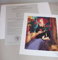 "Park West Magali au Bouquet by Linda Le Kiriff Print 8.5"" x 7"" w/COA L#1459"