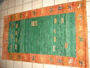 Wie Neu Rheuma Und ErkäLtung Lindern Indischer Gabbeh Perser Teppich 152 X 91 Cm Sehr Chic Und Edel